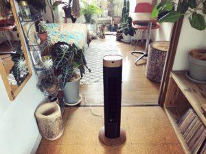 植物のある部屋になじむ扇風機