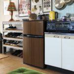 インテリアになじむ木目の冷蔵庫
