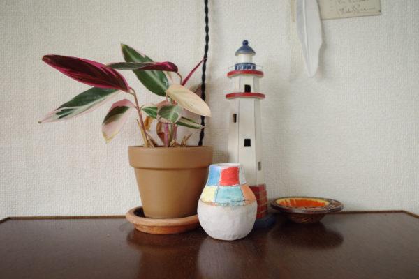 SHINO TAKEDAの一輪挿しを飾ってみました