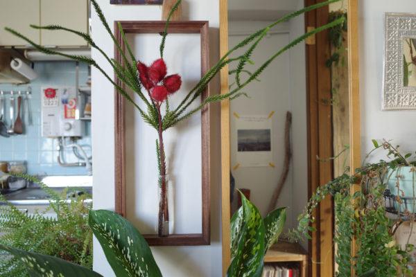 フレームフラワーベース 花